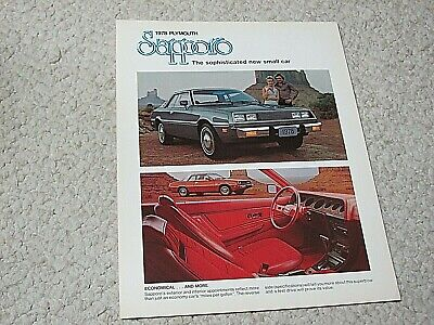 1978 Canadian Plymouth Sapporo Sales Brochure.