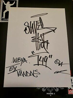 STAYHIGH 149 SIGNED ORIGINAL 11x14 SMOKING SAINT NYC GRAFFITI ART / Cope2