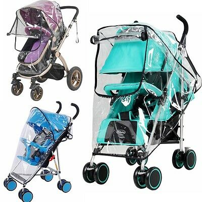 Waterproof Universal Rain Cover Wind Shield Fit Most Strollers Pushchairs Buggys