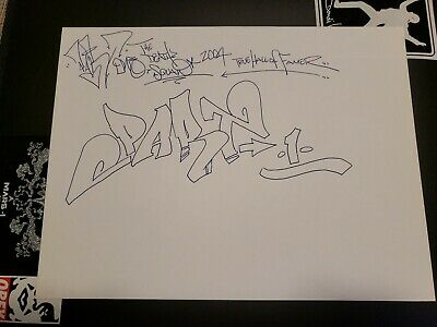 Part1 Graffiti Art Piece 2004 Original New Mint 11x14 Legend / Cope2 Tkid Seen