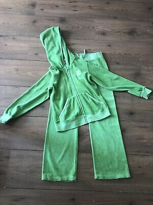 Girls Juicy Couture Lime Green Terry Tracksuit Size Aged 7 Years