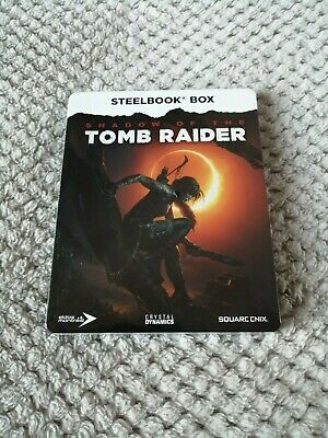 Shadow Of The Tomb Raider - Xbox Steel Case & 3 Art Cards New & Sealed (No Game)