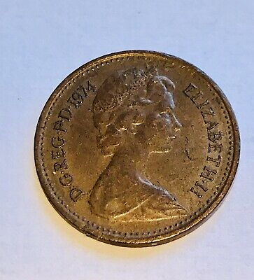 British Half Pence 1/2p New Penny 1974