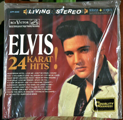 "AUDIOPHILE ANALOG PRODUCTION ELVIS PRESLEY ""24 Karat Hits"" #3 LP SET 200g SEALED"