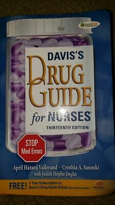 DAVIS'S DRUG GUIDE FOR NURSES By Vallerand 13th Edition