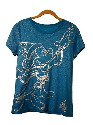 Disney Parks T-Shirt /Tee Size L Glitter Mickey Mouse