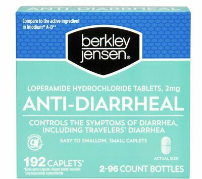 2 Pack of 96 - Anti-Diarrheal Hydrochloride Tablets 2mg 192 count