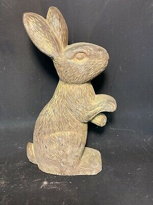 Vintage Bunny Rabbit Cast Iron door stop / flat-back