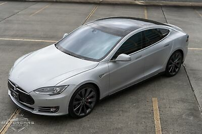 2015 Tesla Model S P90D Ludicrous 15 Tesla Model S P90D Ludicrous 15k Miles Silver Metallic Electric 16 p 90 sedan