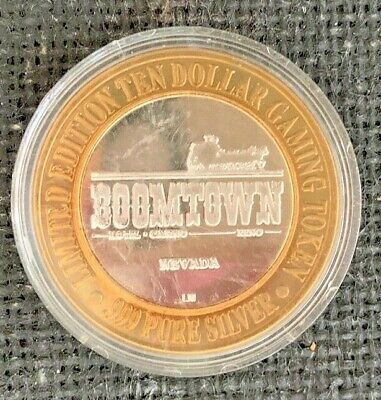 Boomtown silver strike .999 fine silver limited edition gaming token