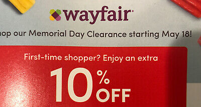 WAYFAIR 10% Off Coupon 1st First Order Expires 07/31/2020