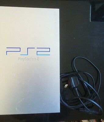 Sony PS2 Silver Playstation 2 Console & 2 games