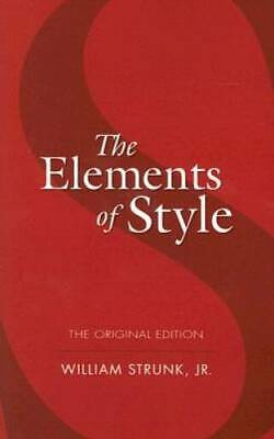 The Elements of Style: The Original Edition (Dover Language Guides) - VERY GOOD