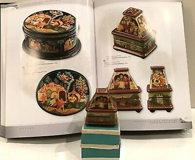 """Russian Mstera Papier-Mache 5 Side Lacquer Box """"Masters Of Icon Painting""""1996"""