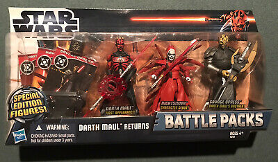 Star Wars The Clone Wars Darth Maul Returns Battle Packs Action Figures