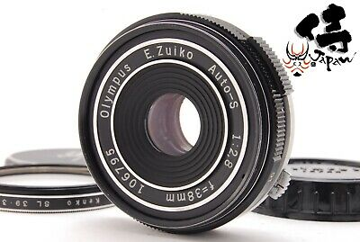 ✈️Fedex🔴Rare!!Nm🔴Olympus E Zuiko Auto S 38Mm F2.8 Pancake Lens Pen F Ft Fv