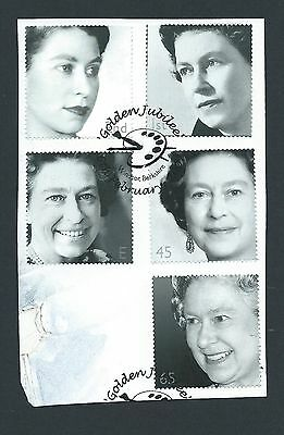 GB-2002 Golden Jubilee Set-SG2253-57-Cancelled First Day of Issue