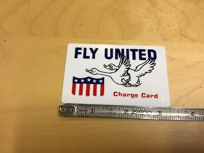 HIgh Grade Original Novelty CREDIT CARD circa 1960's: FLY UNITED w 2 ducks