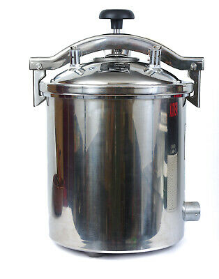 I00 High Pressure Steam Autoclave Sterilizer Stainless Steel Portable 18 Litres