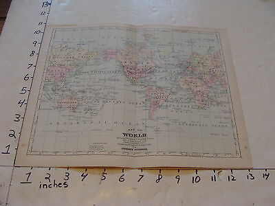 vintage map Johnson's Cyclopaedia: MAP OF THE WORLD