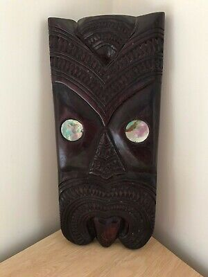 Superb Vintage Wiki Maori Abalone Shell Wall Plaque