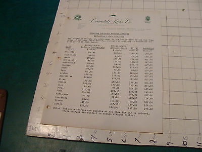 vintage Original auto dealership info: 1957 Crandall-Hicks co FREIGHT CHARGES