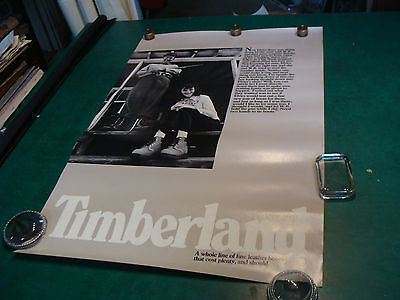"""original vintage Poster: TIMBERLAND Boots #1--22 x 34"""", from the 1980's---#2"""