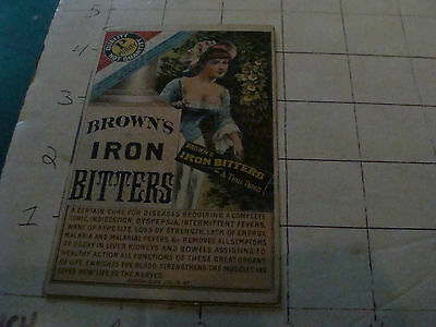 vintagel Trade Card: BROWN'S IRON BITTERS