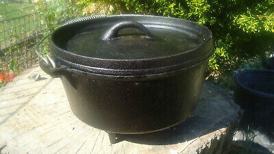 Dutch Oven 3L Cast Iron Pot Cooking Camping Bushcraft