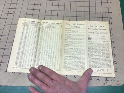 Original: 1946 HOW TO USE YOUR WITHOLDING STATEMENT as INCOME TAX RETURN