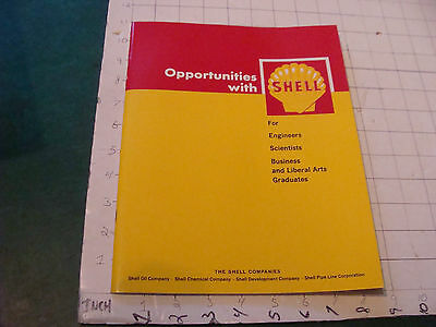Orig Vintage Booklet: Opportunities with SHELL 1966; 44 pgs, SCARCE