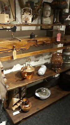 Antique French Large Oak Dresser with drawers Open Rack Country