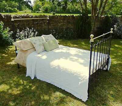 Old Victorian Brass and Iron Bedstead