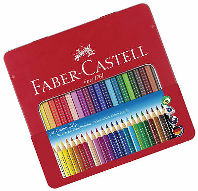Faber-Castell Tin of 24 Colour GRIP 2001 pencils