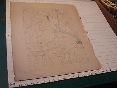 """Vintage Original Map:1898 Maine-New Hampshire DOVER Sheet aprox 22 X 18"""""""