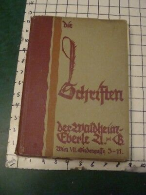 Original Vintage 1920's TYPEFACE CATALOG -- SCHEIFTEN -- 100+ pages, DESIGN #3