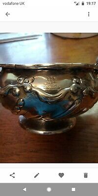 Antique silver bowl 2 handled