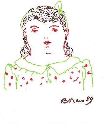 Fernando Botero 's Drawing on paper, Signed and dated 1989