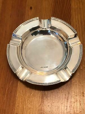 Superb Solid Silver Large Cigar Ashtray By Walker & Hall