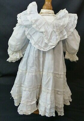 Large Old Dress For Antique Doll, Doll Clothes, Doll Outfit