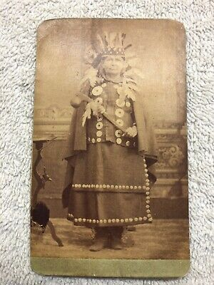 NATIVE AMERICAN CARD PHOTOGRAPH #1 of 2