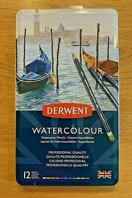 Derwent Watercolour Color Pencils 12pc Professional Quality #32881 Free Shipping