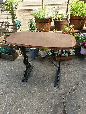 Victorian Cast Iron & Copper topped table Can Deliver