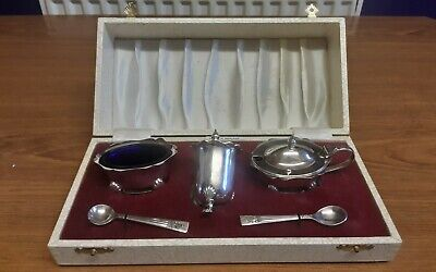 Vintage silver-plated Cruet set in original box by Angora