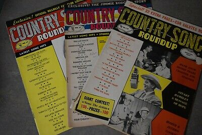 vintage Country Song Roundup magazine  lot of 3
