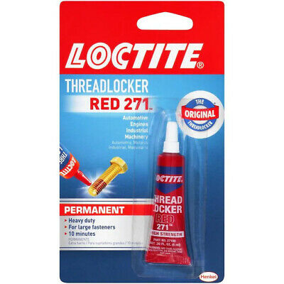 LOCTITE Threadlocker Red 271 0.2-fl oz Hardware Red Multipurpose Adhesive 6 PacK