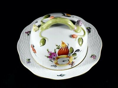 Vintage Herend Circular Butter Cheese Dish