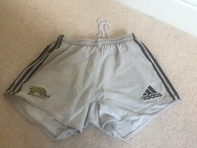 Vintage Adidas Shorts Embroidered Leopard VISA Three Stripe Spell Out Large