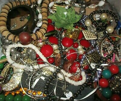 Huge 20 + lbs vintage + Modern jewelry lot  Craft peices, Harvest and wearable
