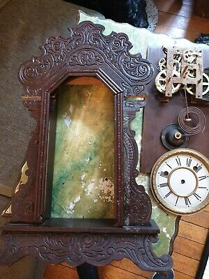 Antique Waterbury Clock spares ..good movement once case